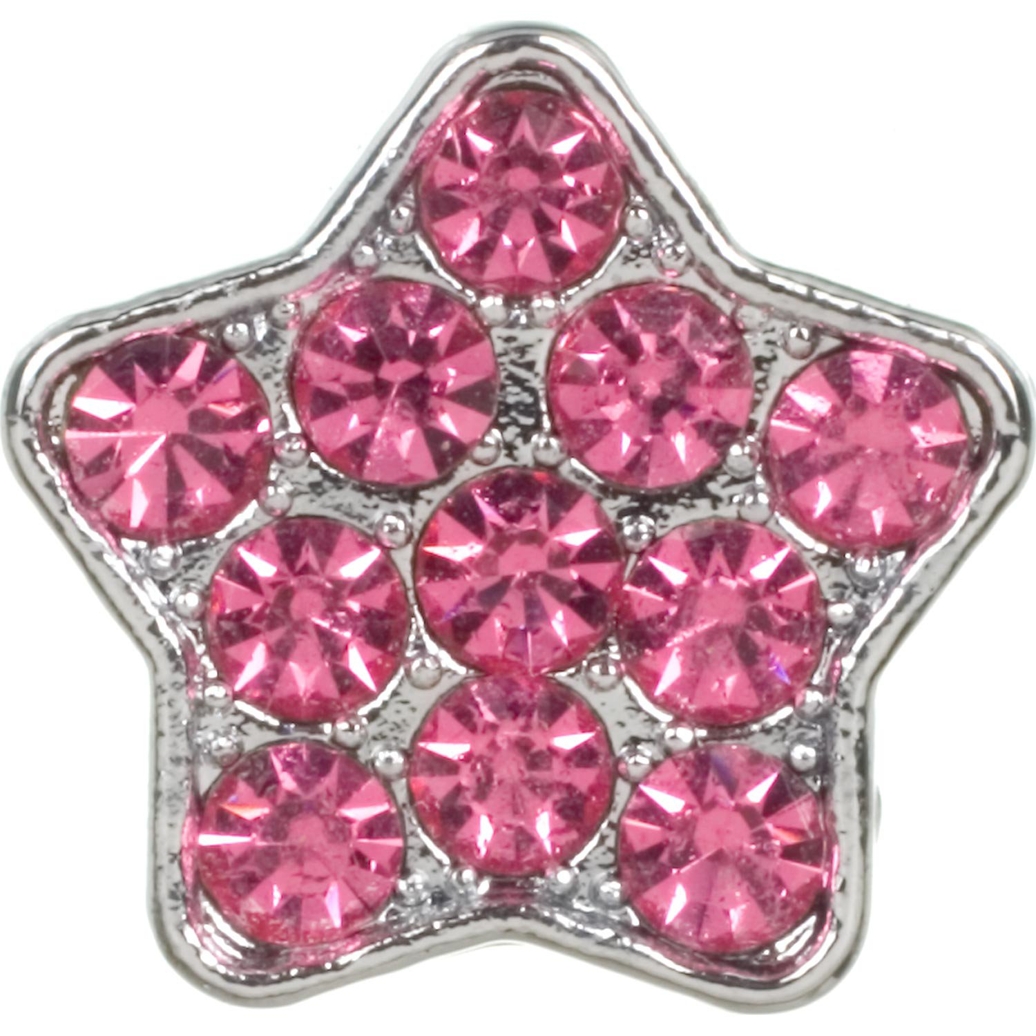 Fashion Angels Create-a-Collar 10 mm Pink Pave Star Charm