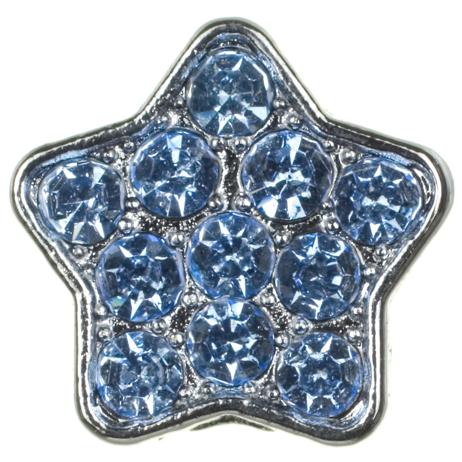 Fashion Angels Create-a-Collar 10 mm Blue Pave Star Charm