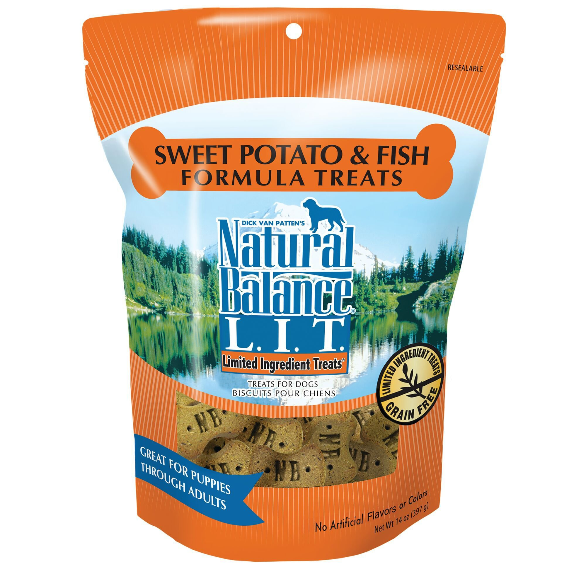 Natural Balance L.I.T. Sweet Potato & Fish Formula Dog Treats