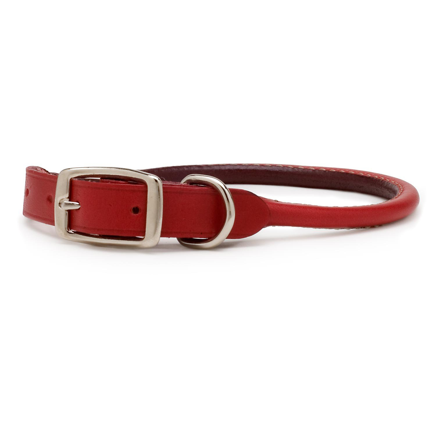"Petco Rolled Leather 3/4"" Dog Collar in Red"