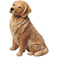 Sandicast Golden Retriever Original Size Figurine Sitting