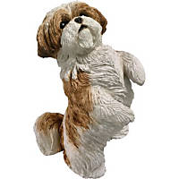 Sandicast Shih Tzu Original Size Figurines Gold Up