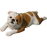 Sandicast Fawn Bulldog Original Size Figurine Lying Down