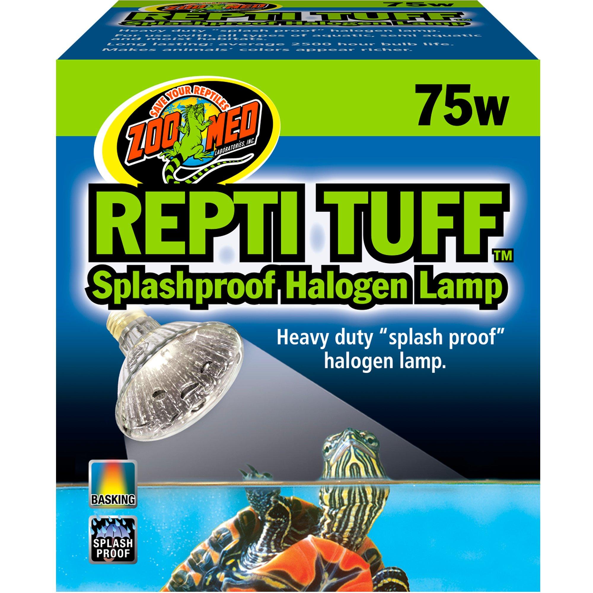 Zoo Med Turtle Tuff Splashproof Halogen Lamp, 75 Watts