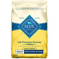 Blue Buffalo Chicken & Brown Rice Healthy Weight Adult Dog Food