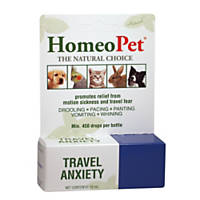 HomeoPet Travel Anxiety Relief Natural Homeopathic Remedy for Pets