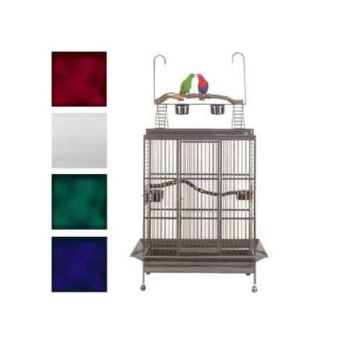 Avian Adventures Grande Playtop Bird Cages in Platinum