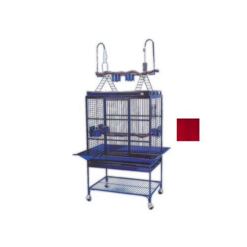 Avian Adventures Mediana Playtop Bird Cages in Ruby
