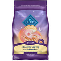 Blue Buffalo Healthy Aging Chicken & Brown Rice Senior Cat Food, 7 lbs.