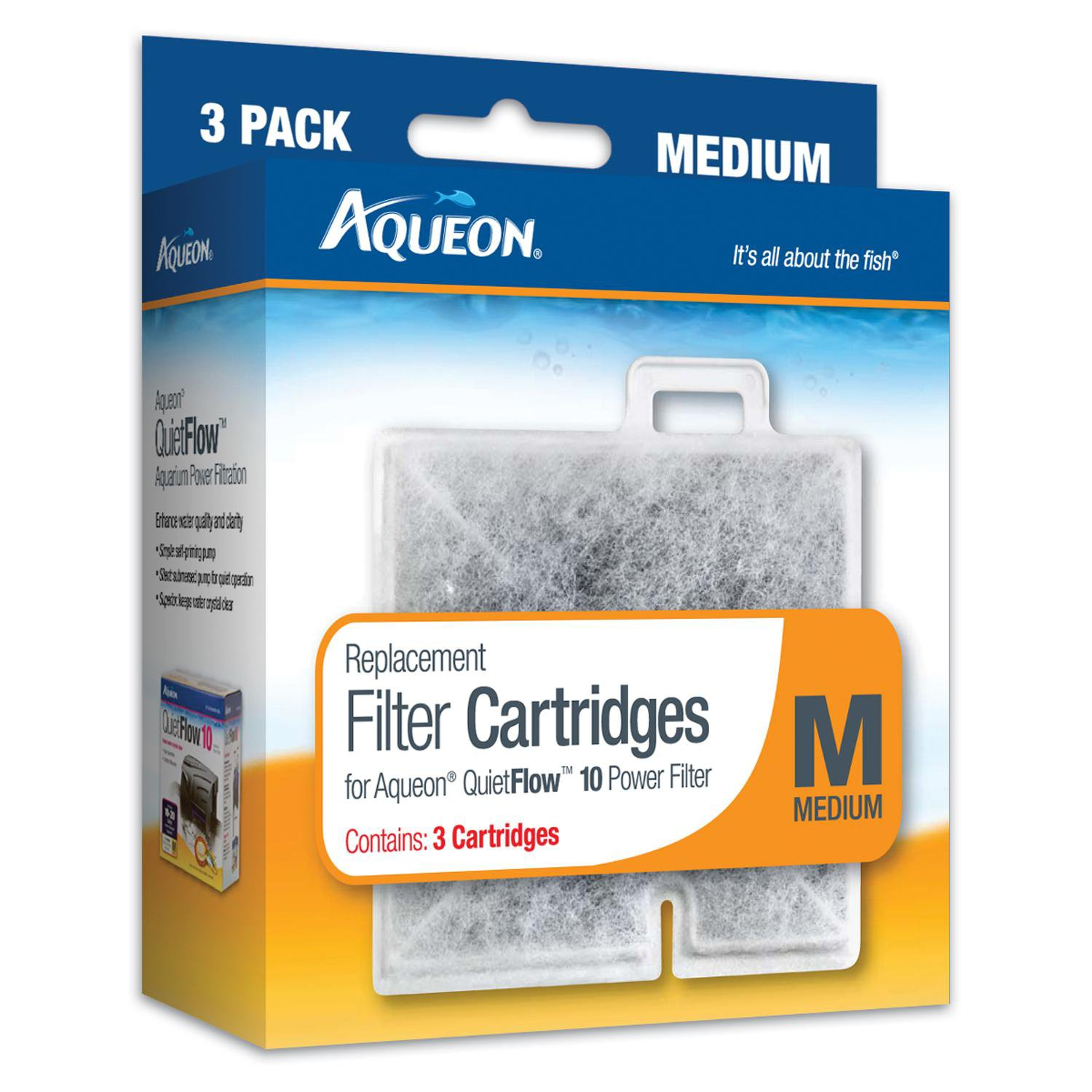 Aqueon replacement filter cartridges medium petco store for Petco fish tank filters