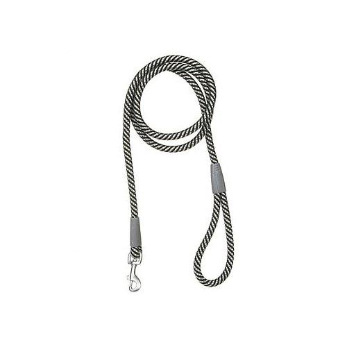 Aspen Pet by Petmate Mountain Dog Leash in Black & Gray, 13 MM Width