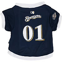 Milwaukee Brewers MLB Dog Jersey