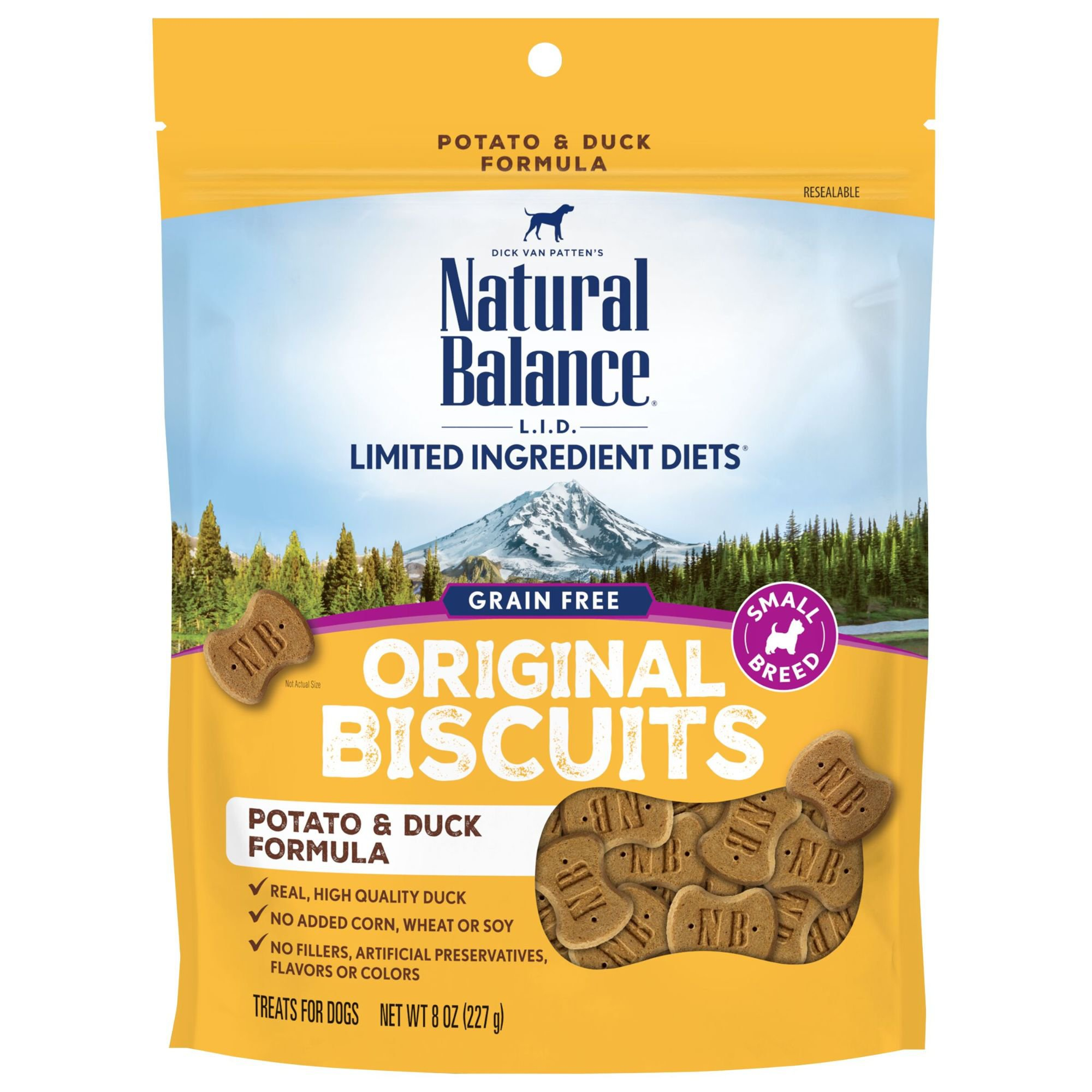 Natural Balance L.I.T. Limited Ingredient Treats Potato & Duck Formula Small Breed Dog Treats