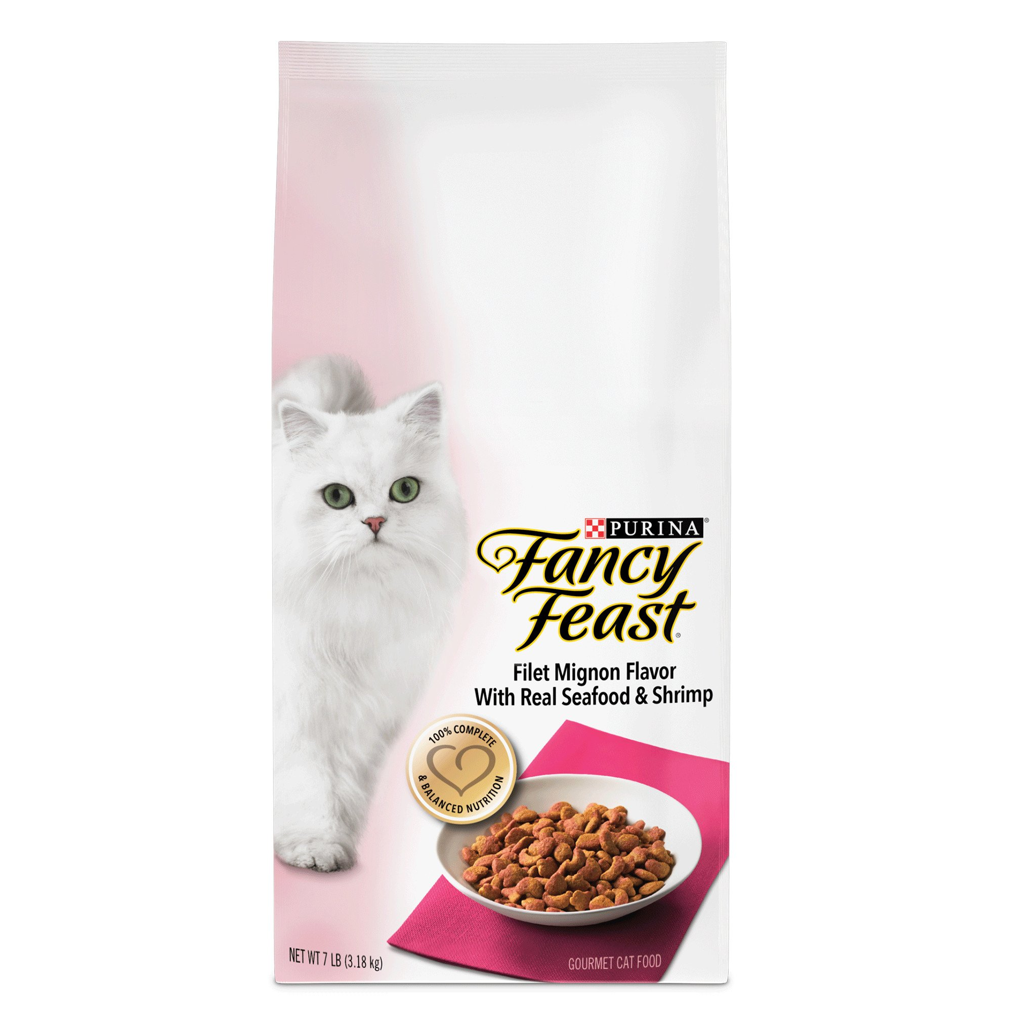 Fancy Feast Gourmet Gold Filet Mignon Flavor with Real Seafood & Shrimp Dry Cat Food
