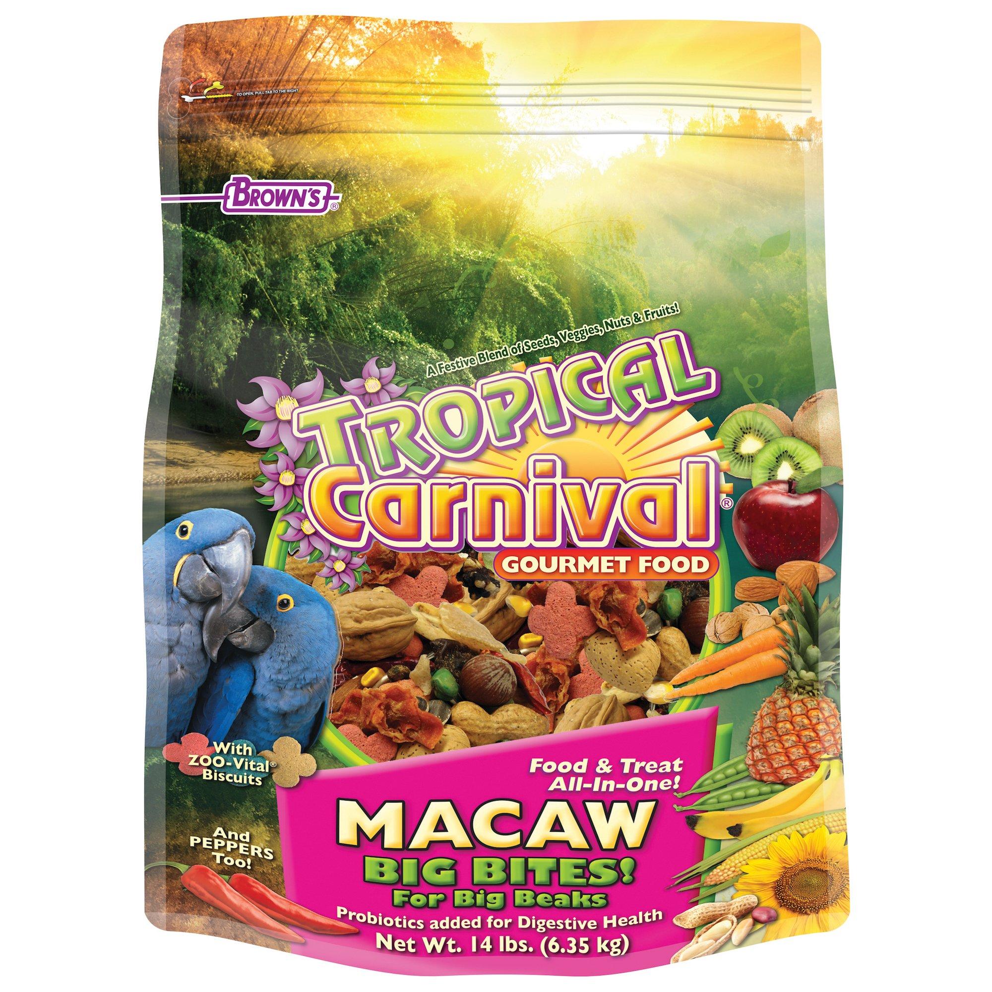 Brown's Tropical Carnival Gourmet Macaw Food