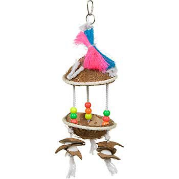 Prevue Tropical Teasers Tiki Hut Bird Toy
