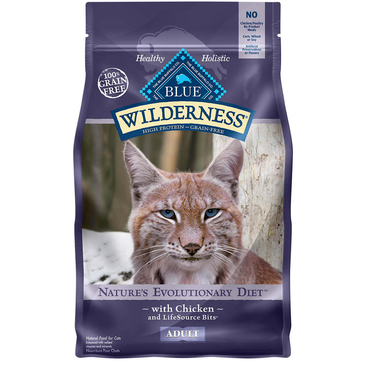 Blue Buffalo Wilderness Chicken Recipe Adult Cat Food, 6 lbs