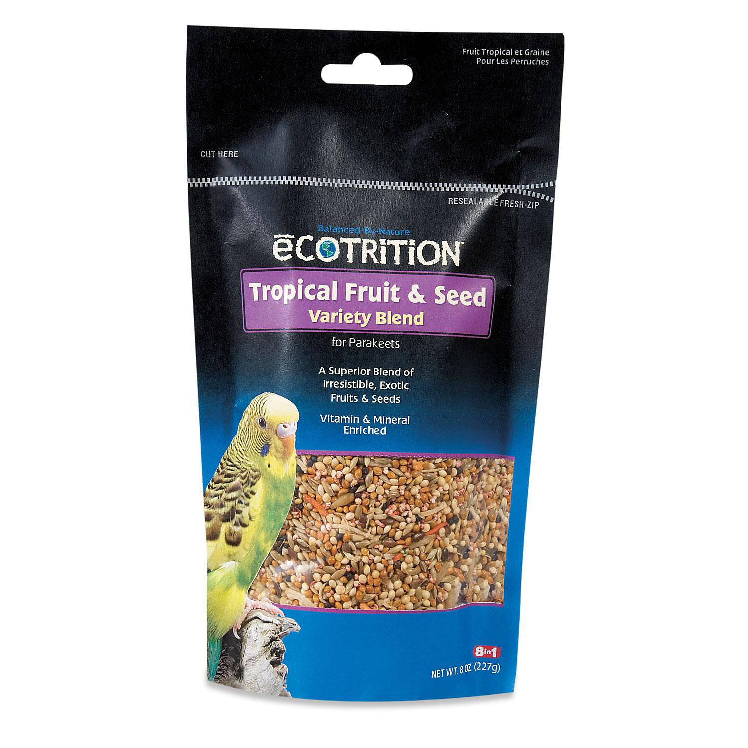 eCOTRITION Tropical Fruit & Seed Variety Blend for Parakeets