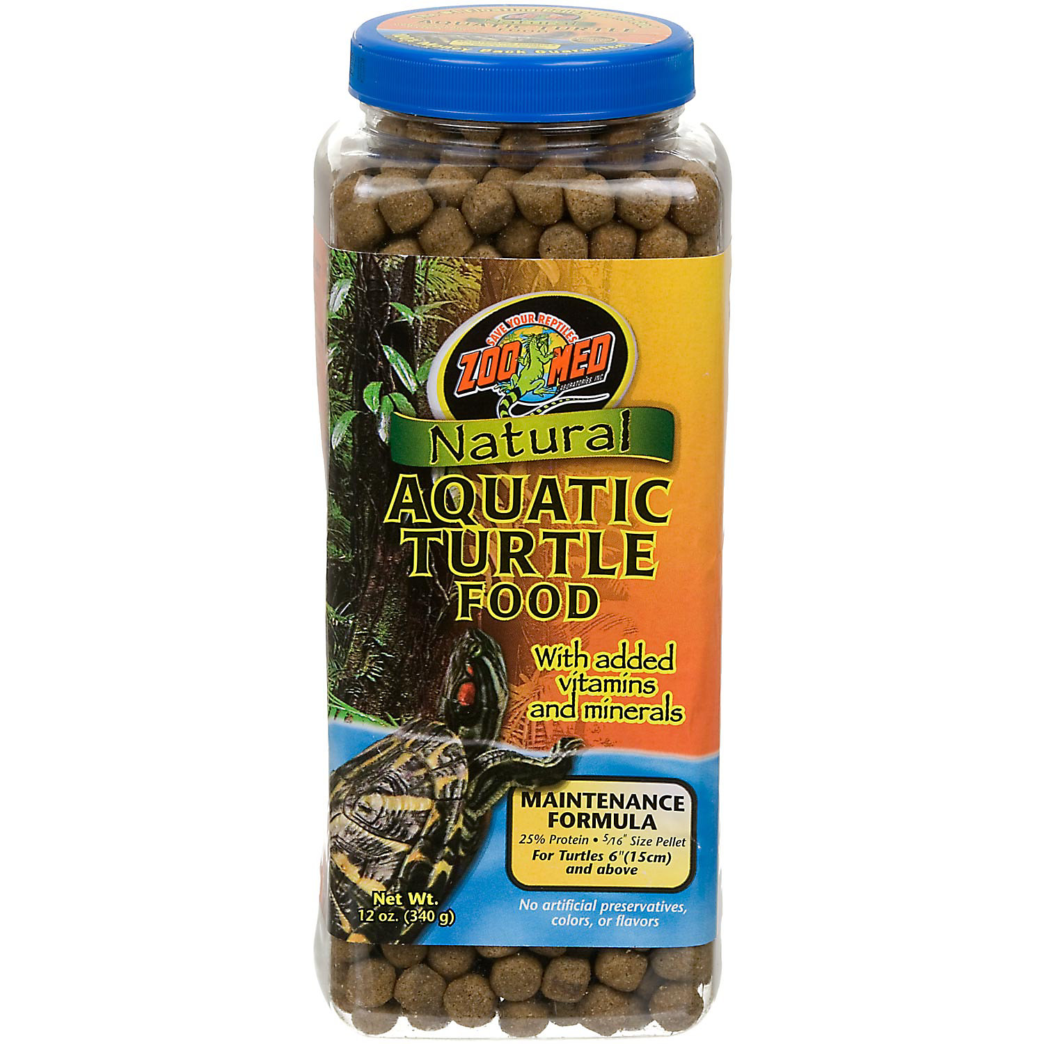 Zoo Med Natural Maintenance Formula Aquatic Turtle Food 12 Oz.
