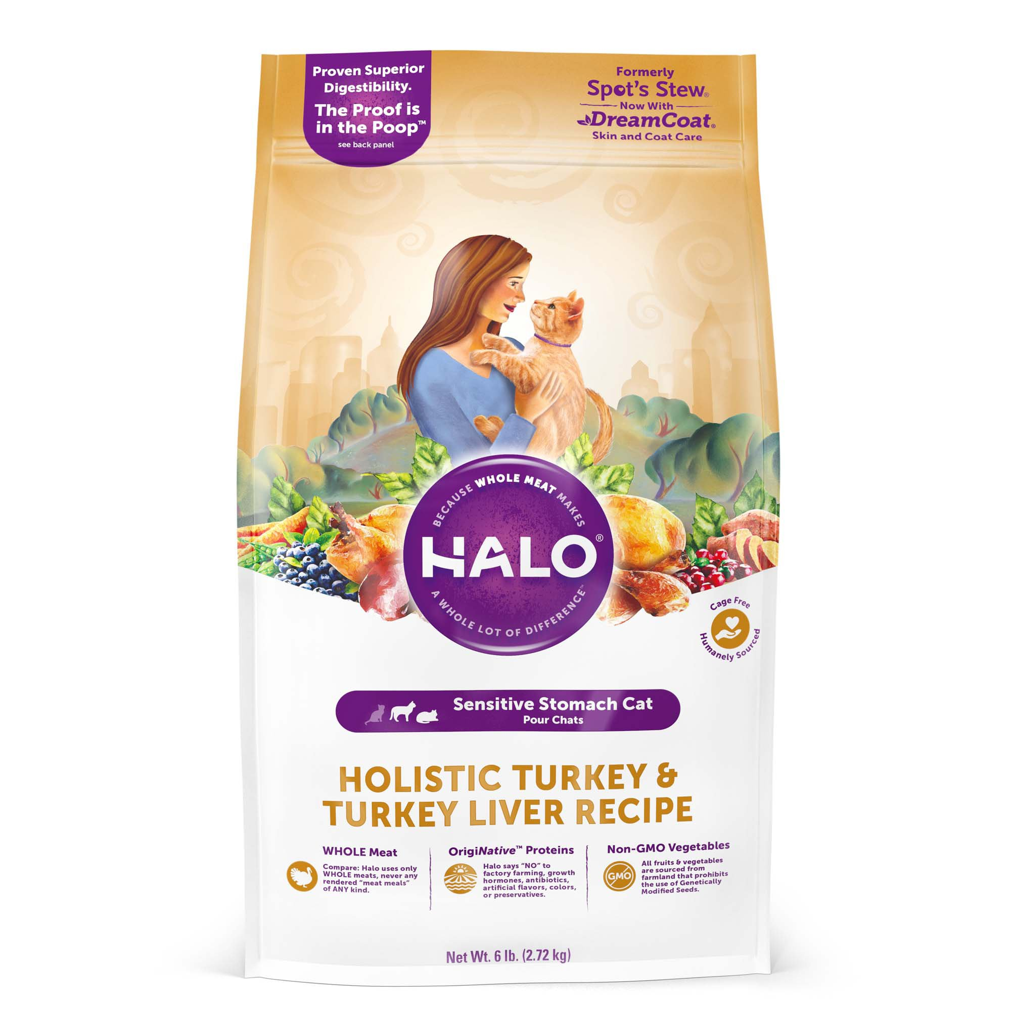 Halo Spot's Stew Sensitive Formula Turkey Recipe Cat Food