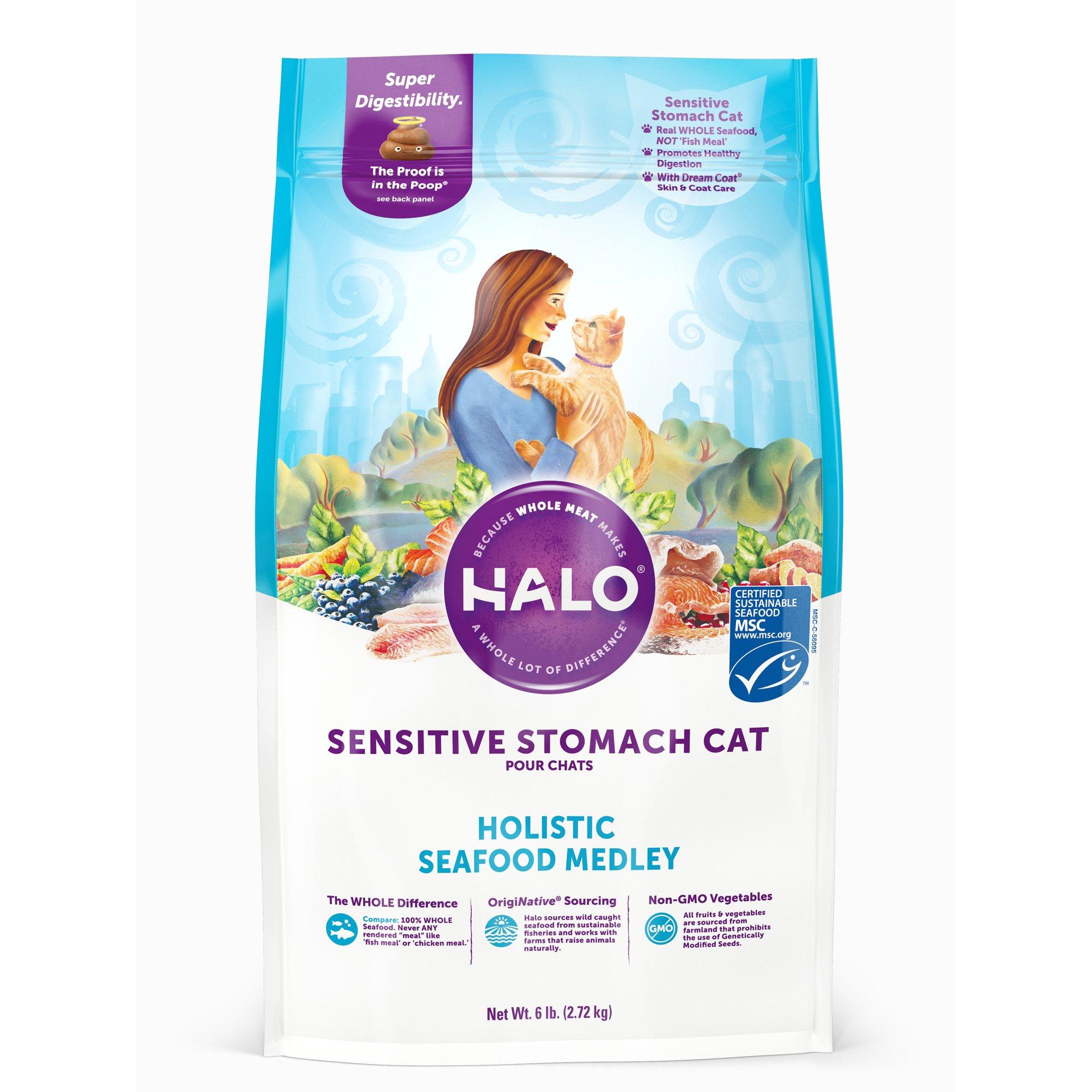 Halo Spot's Stew Sensitive Formula Seafood Recipe Cat Food