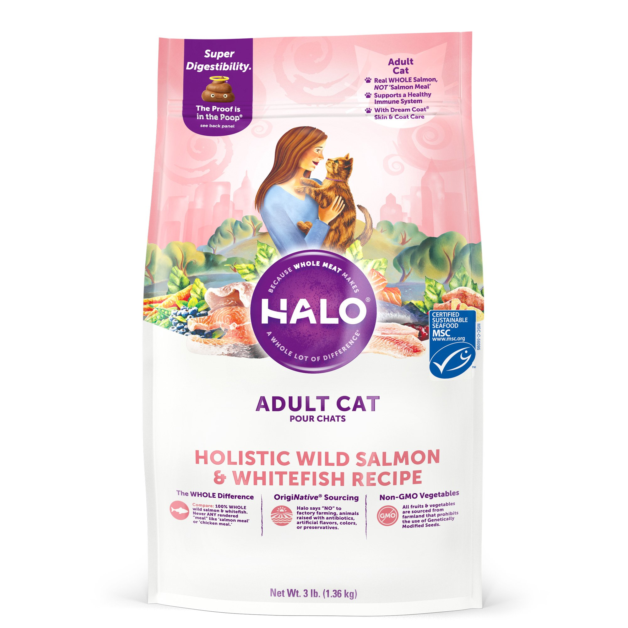 Halo Spot's Stew Indoor Formula Salmon Recipe Cat Food