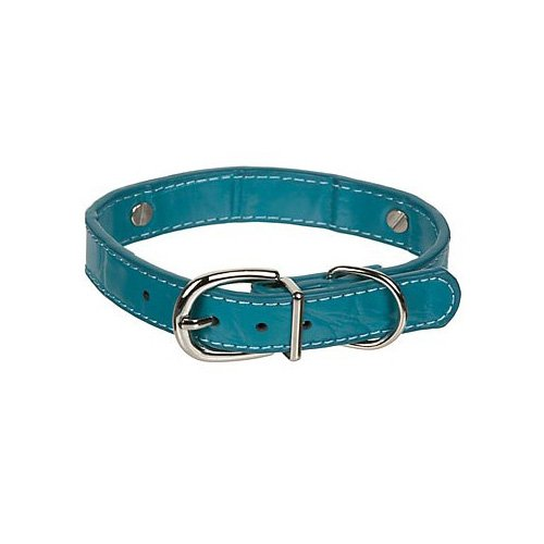 Fashion Angels Create-a-Collar Small 10 mm Leather Charm Collar in Turquoise Crocodile