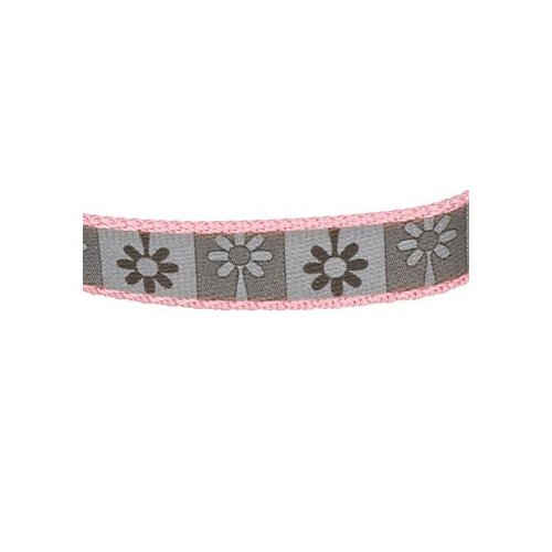 Coastal Pet Lazer Brite Single Ply Nylon Reflective Dog Collar in Pink