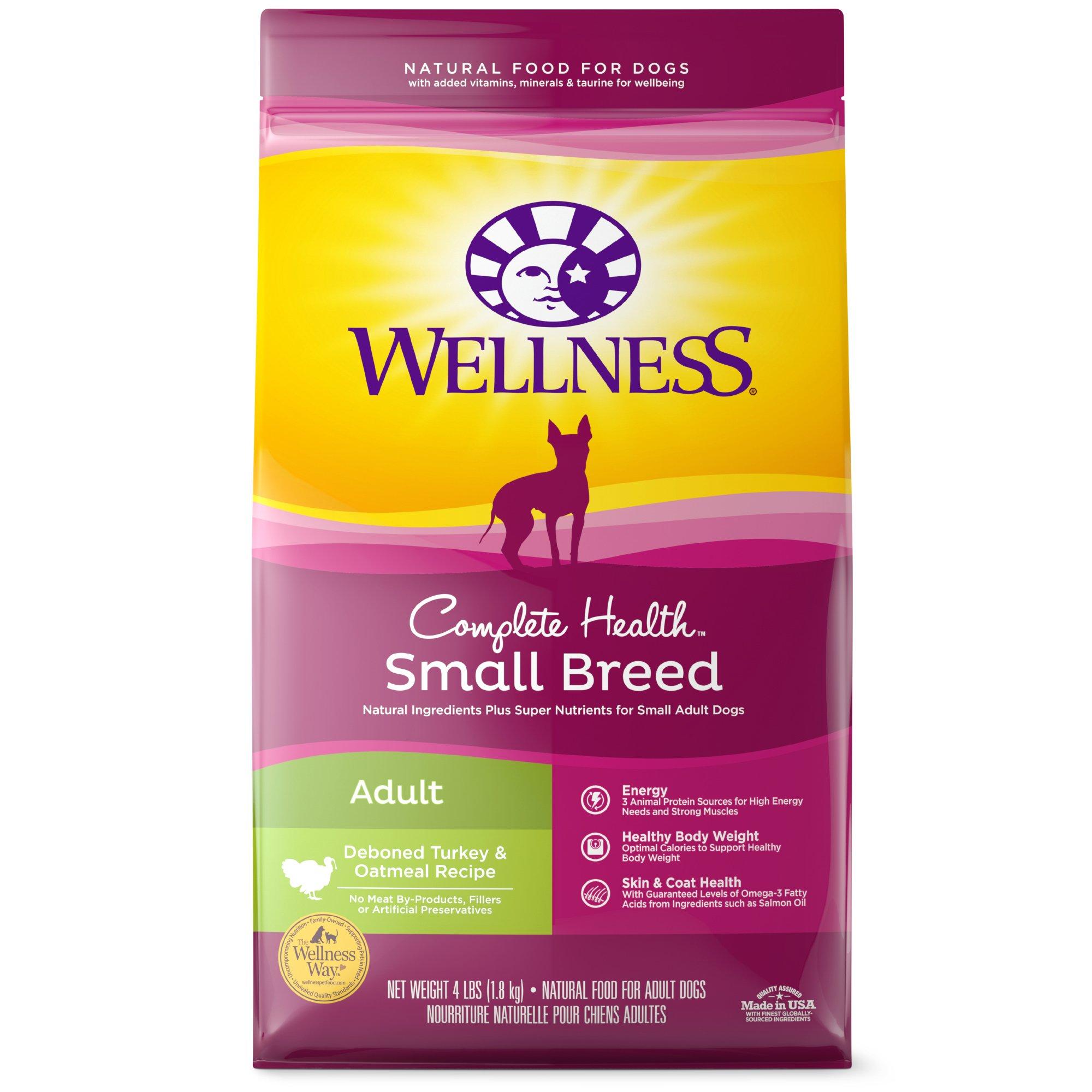 Wellness Small Breed Complete Health Turkey & Oatmeal Adult Dog Food