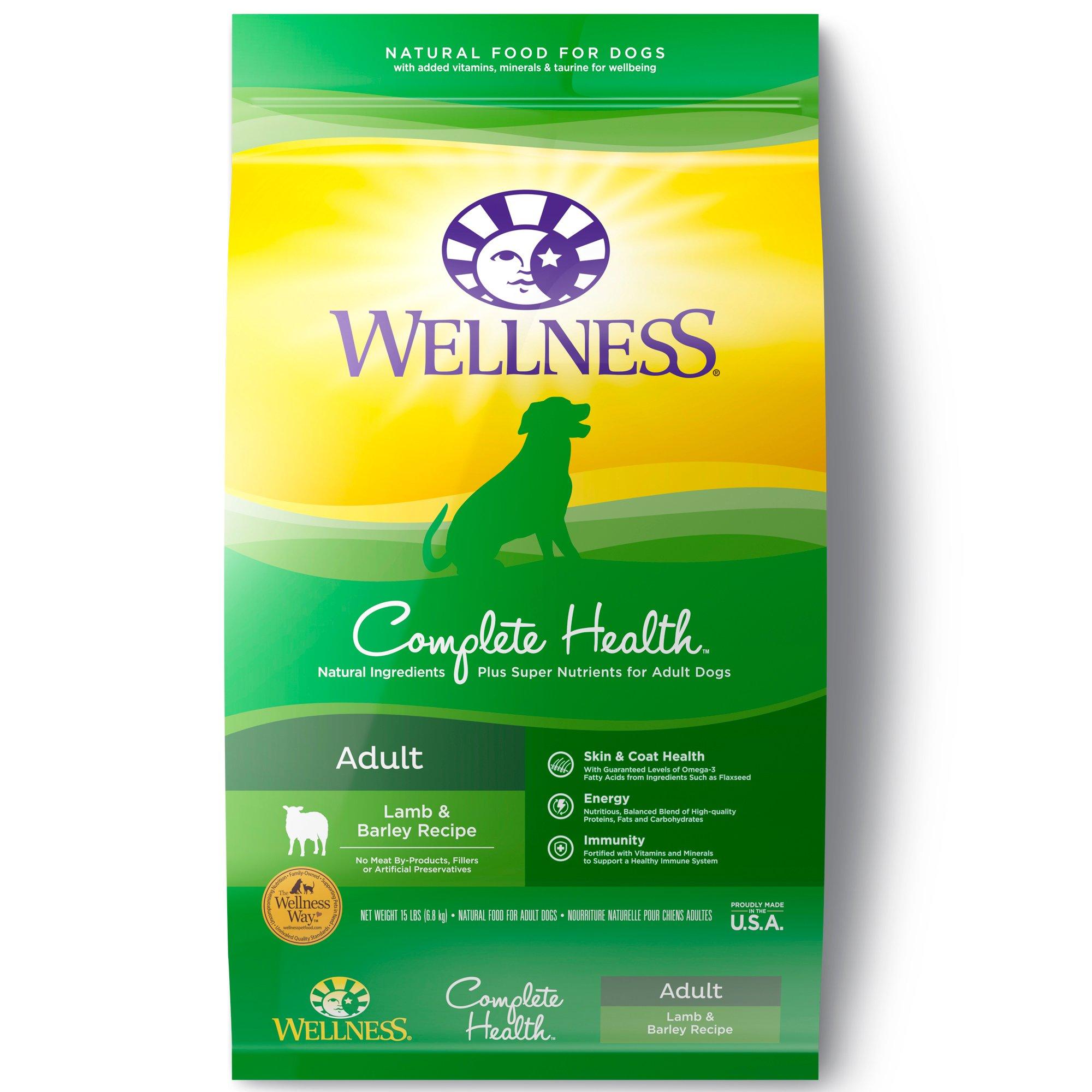 Wellness Complete Health Lamb & Barley Adult Dog Food