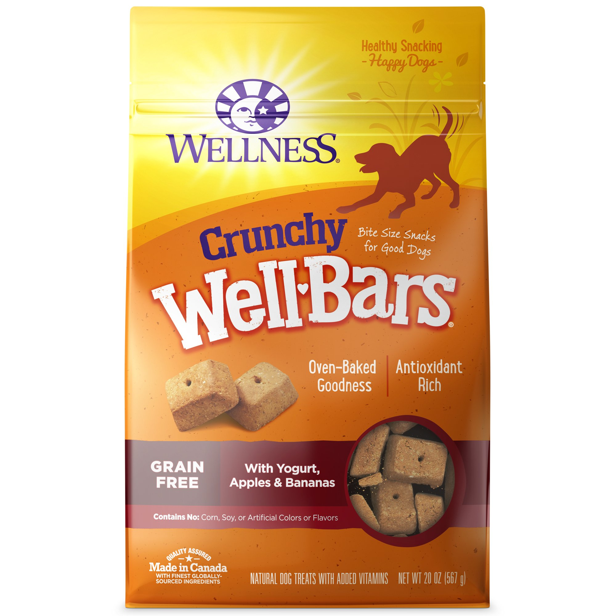 Wellness Wellbars Yogurt, Apples & Bananas Crunchy Dog Treats