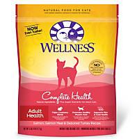 Wellness Complete Health Salmon Salmon Meal & Deboned Turkey Adult Cat Food