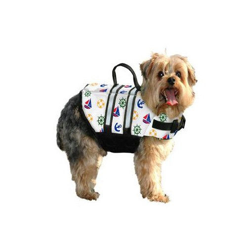 Paws Aboard Doggy Life Jacket in Nautical Print