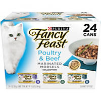 Fancy Feast Beef & Poultry Marinated Morsels Variety Pack Adult Canned Cat Food in Gravy