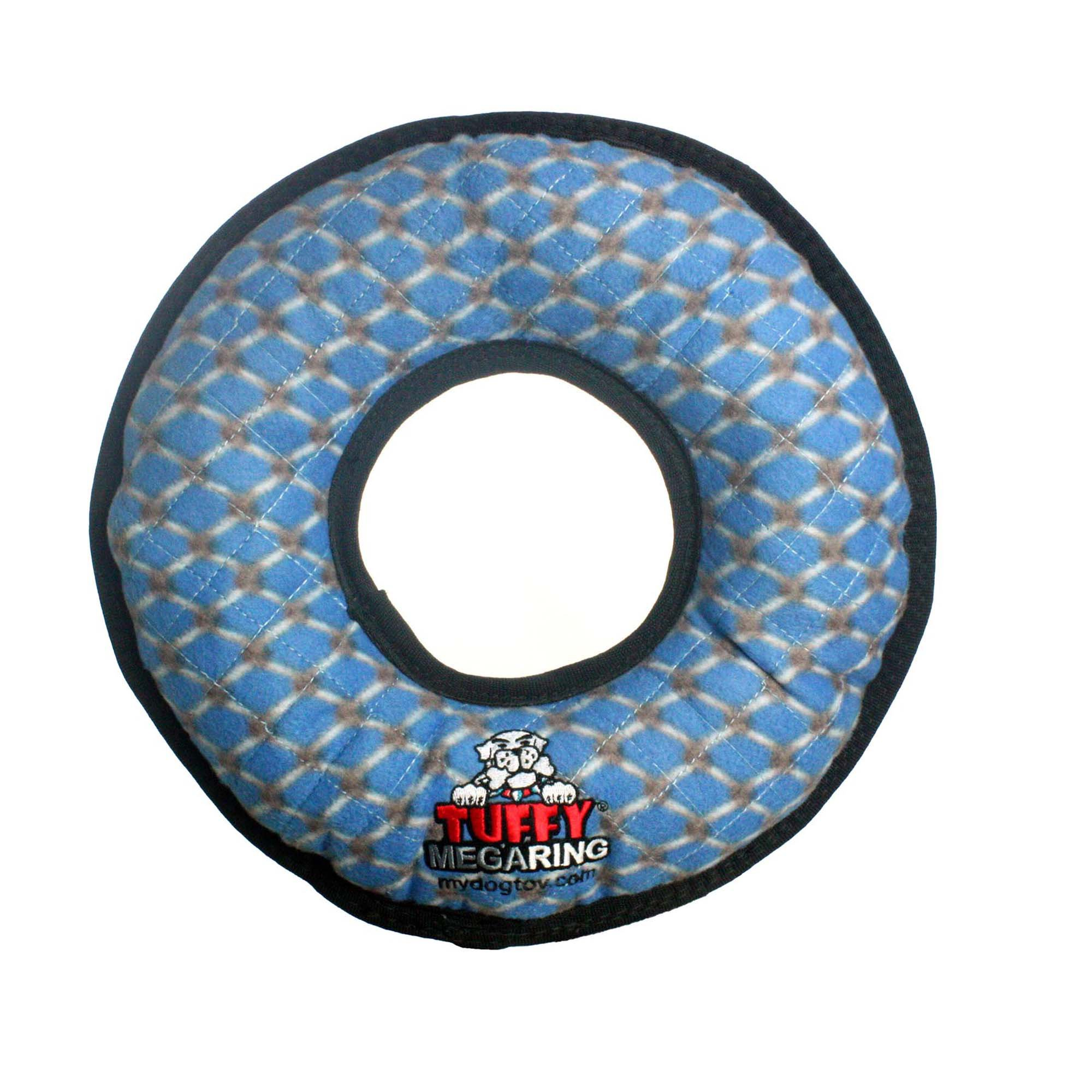 VIP Products Tuffy's Mega Ring Blue Chain Dog Toy