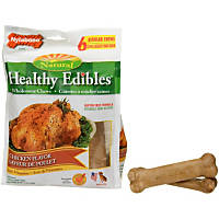 Nylabone Healthy Edibles Chicken Flavored Dog Bone Chews