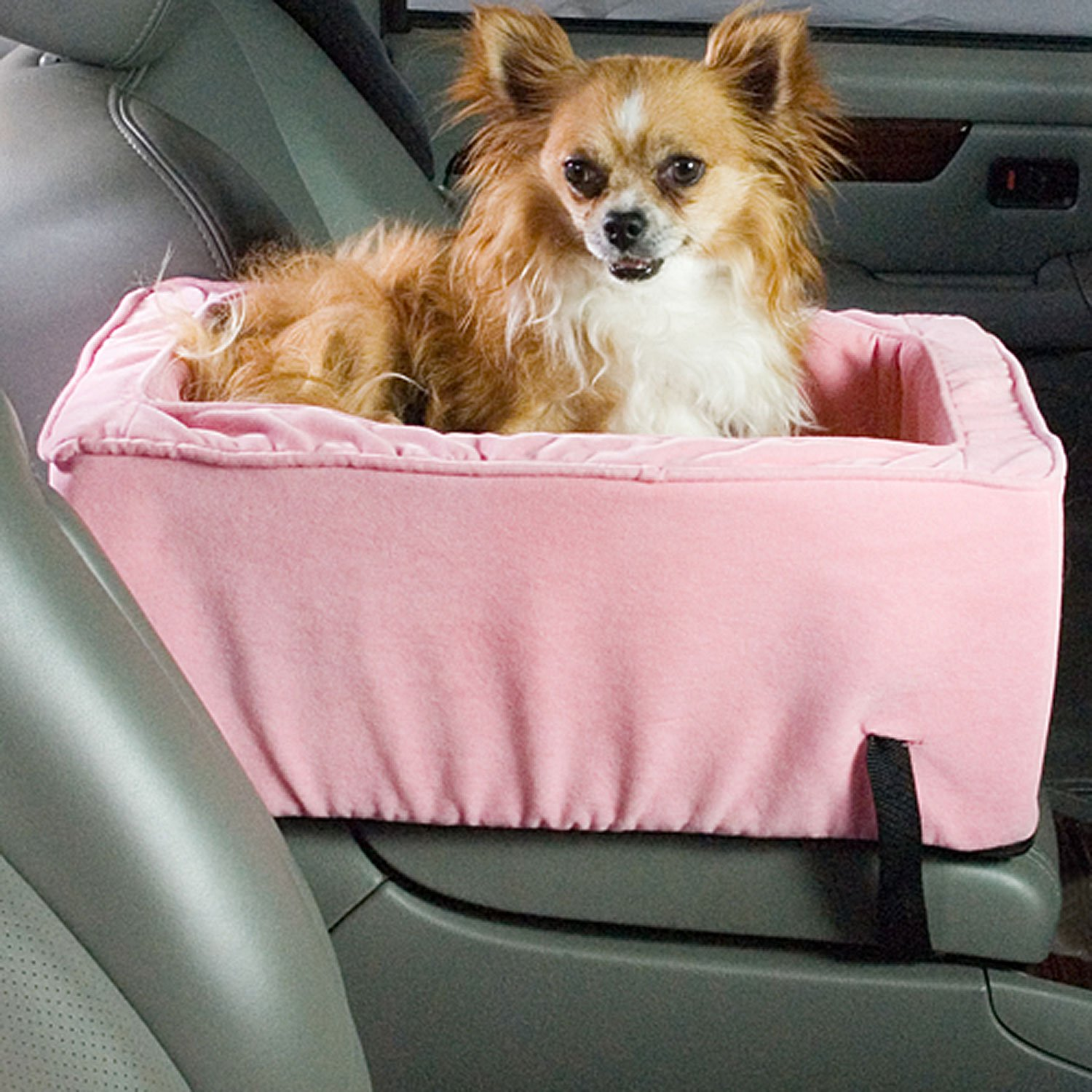 snoozer pink luxury console lookout dog car seat petco. Black Bedroom Furniture Sets. Home Design Ideas