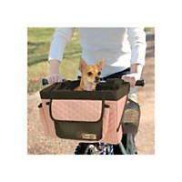 Snoozer Buddy Bike Basket in Pink & Black