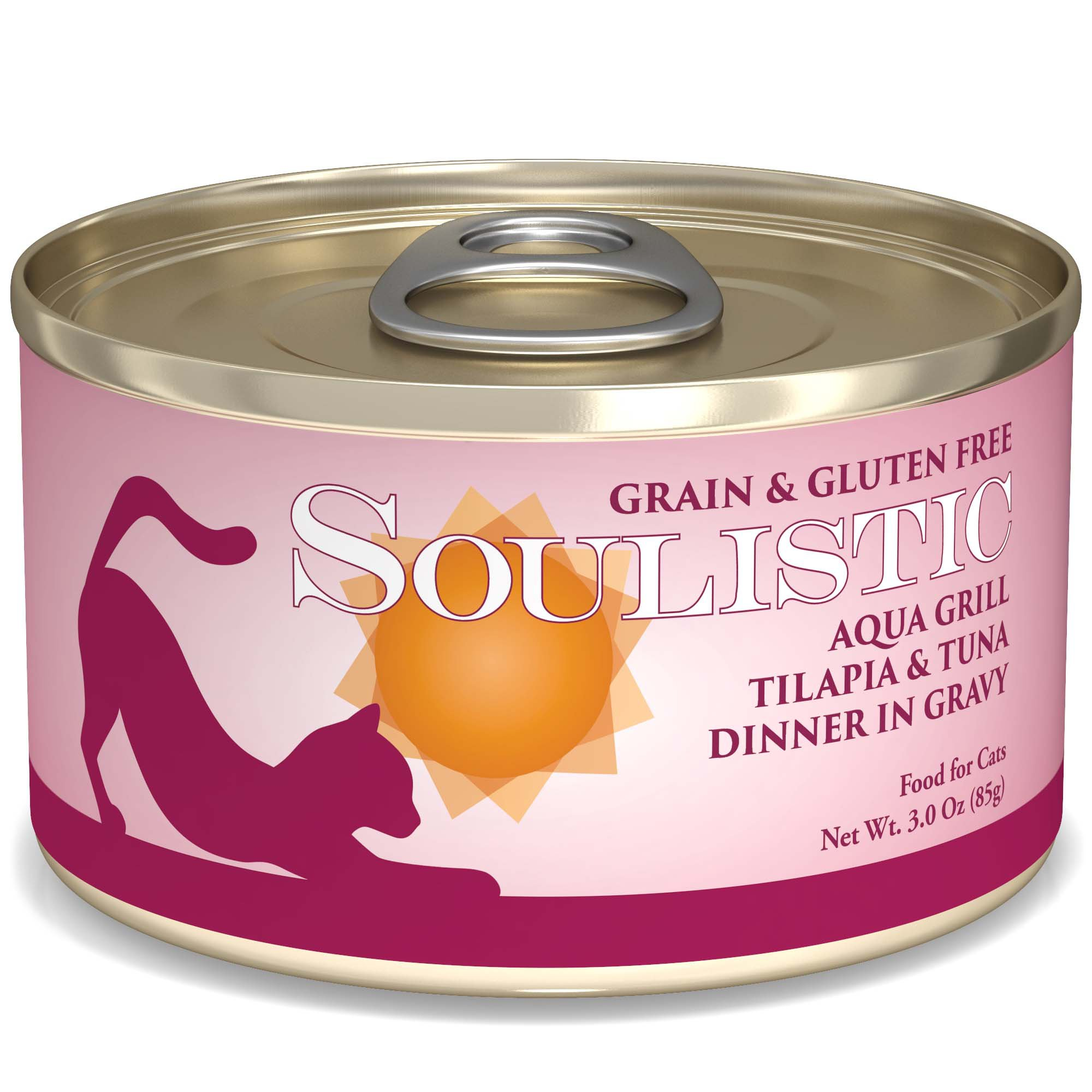 Soulistic Aqua Grill Tilapia & Tuna Dinner Adult Canned Cat Food in Gravy