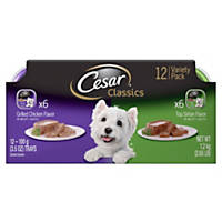 Cesar Select Top Sirloin & Grilled Chicken Variety Pack Dog Food Trays