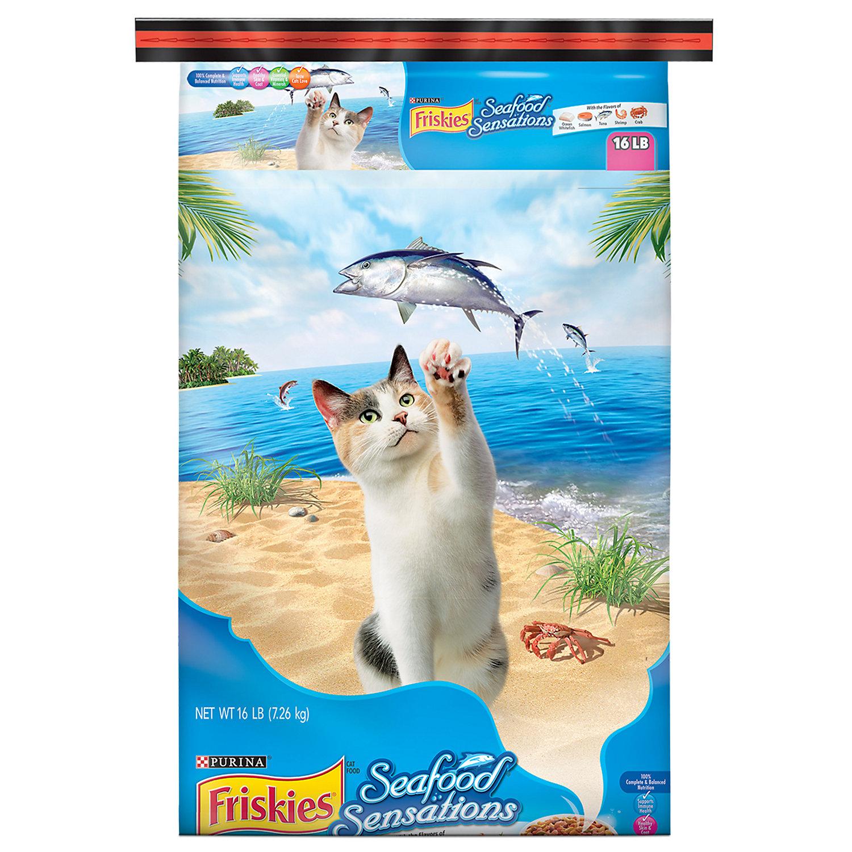 Friskies Seafood Sensations Cat Food, 16 lbs.
