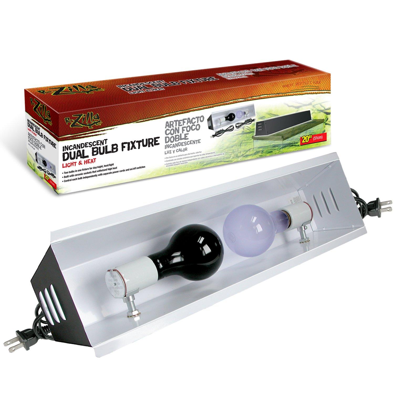 """Zilla Incandescent 20"""" Dual Bulb Reptile Fixture"""