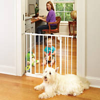 North States Easy-Close Pet Gate in White