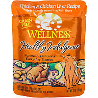 Wellness Healthy Indulgence Chicken & Chicken Liver Grain Free Cat Food Pouches