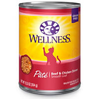 Wellness Adult Canned Cat Food, Beef & Chicken