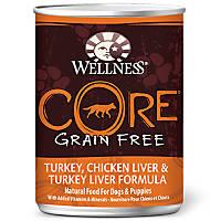 Wellness CORE Turkey, Chicken Liver & Turkey Liver Canned Dog Food