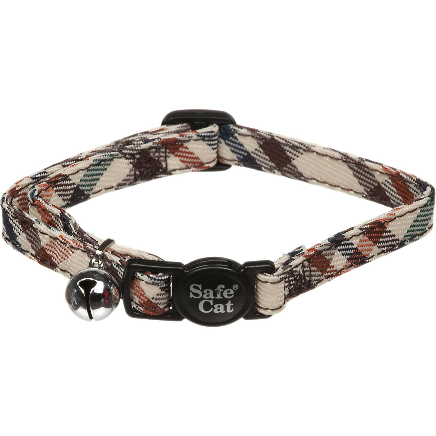 Petco Brown and Cream Plaid Breakaway Cat Collar
