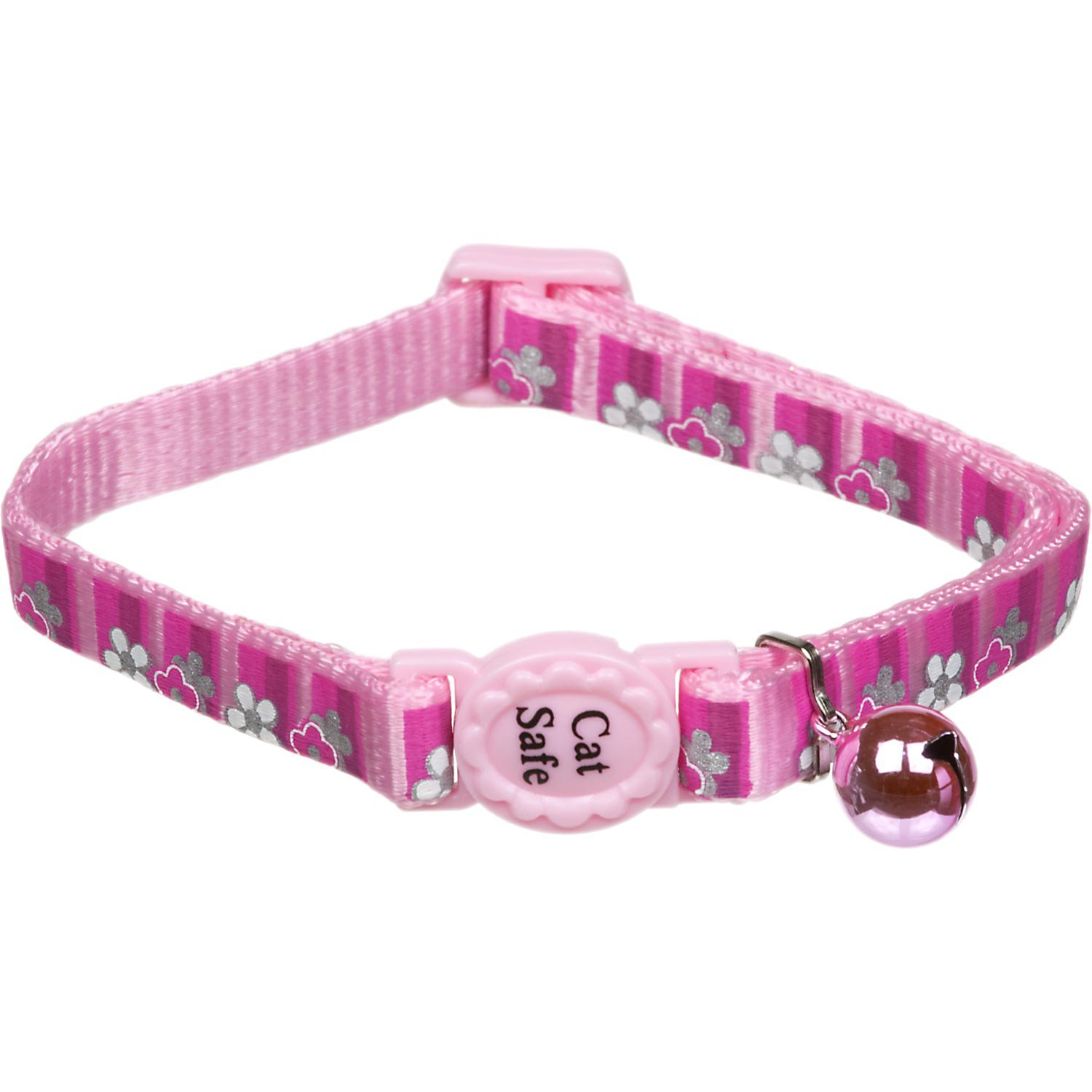 Coastal Pet Safe Cat Reflective Breakaway Collar in Pink Daisy Print