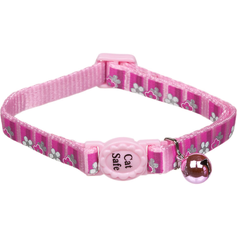 Coastal Pet Safe Cat Reflective Breakaway Collar In Pink Daisy Print