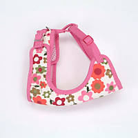 Coastal Pet Li'l Pals Adjustable Soft Mesh Harness in Pink with Flowers